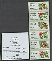 WINTER GREENERY DEC 2019 MAIL RAIL POSTAL MUSEUM R17AL BDGB19 COLL STRIP Post Go