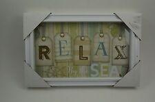 "Relax By The Sea Shells Inspirational Ocean Beach 7"" H"