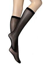 10 PAIRS WHOLESALE Womens Plain Black Knee High Pop Socks 30 Denier One size