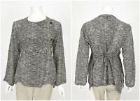 Womens The Masai Wrap Blouse Shirt Black Polka Dot India Viscose Size XL