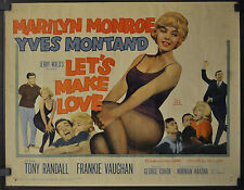 LET'S MAKE LOVE 1960 ORIGINAL 22X28 MOVIE POSTER MARILYN MONROE YVES MONTAND