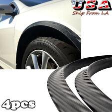 Carbon Fiber Car Wheel Eyebrow Arches Lips Fender Flares Protector Trim Cover