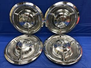 "Vintage set of 4 1958 Chevrolet 14"" hubcaps Impala Bel Air Biscayne Del Ray"