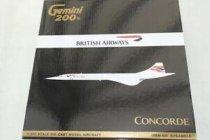 GEMINI JETS 200 1:200 CONCORDE  BRITISH AIRWAYS G-GOAB