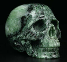 """2.0"""" Ruby Fuchsite Carved Crystal Skull, Realistic, Crystal Healing"""