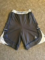 Jordan Men's Size M Basketball Shorts Gray/white/blue