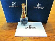Swarovski Crystal Memories Gold Champagne Bottle No 208887 Original Box Retired