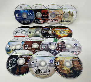 Xbox 360 & Xbox 15 Game Disc Only Lot Tested Working Bundle (Gears, Rockband)