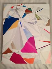 Aaron Wexler original artwork - mixed media collage on panel - signed and dated