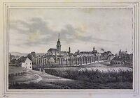 Alte Lithografie Bischofswerda um 1840 Stadtansicht Sachsen Schiebock xz