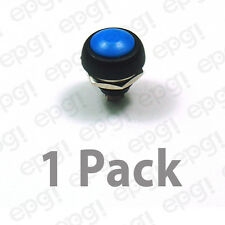 SPST (N/O) MOMENTARY ON BLUE PUSH BUTTON SWITCH 3AMPS @ 125VAC #66-2442-1PK