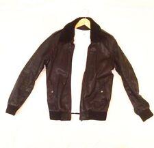 Zara Leather Collared Regular Size Coats & Jackets for Men