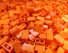 100 NEW ORANGE 1x2 LEGO BRICK PIECES bulk part 3004 building block lot
