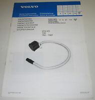 Einbauanleitung Volvo 740 / 760 Einbau Frontsteckdose Steckdose ab Baujahr 1987!