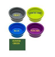 LARGE COOL CROCK - Small Animal Pet Bowl Food Water Asst Colors 18 oz Made USA