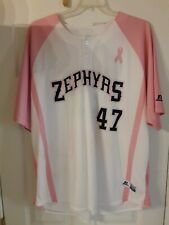 New Orleans ZEPHYRS 2017 BREAST CANCER AWARENESS GAME USED WORN JERSEY SZ 2XL
