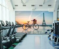Fototapete Tapete Wandbild 1D20032112 Fußballspieler und Eiffelturm