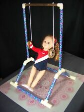 "RINGS GYMNASTIC SET fits American Girl Doll & all 18"" dolls Mat Carry Bag"