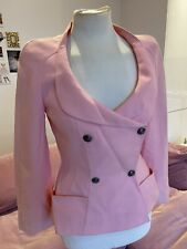 Thierry Mugler Couture Vintage 80's Jacket Candy Pink Tailored Blazer 40