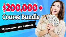 ALL My listings £200,000 Course Bundle + My Done for you website business £1.997