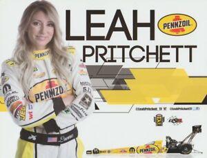 2017 Leah Pritchett Pennzoil Top Fuel Las Vegas NHRA postcard
