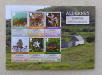 2016 ALDERNEY LONGIS NATURE RESERVE SET OF 6 MINT STAMPS MINI SHEET