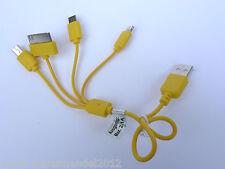 (6,80€/Einheit) 1x Cartrend Micro Mini USB Auto Ladekabel 4in1 CE-geprüft gelb