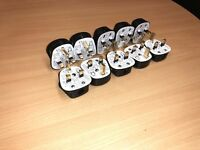 10 x Standard UK Fused 13A Black Mains 3 Pin Houshold Plugs c/w 13A Fuse Fitted