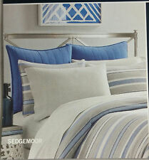 MSRP $64.99 NAUTICA Euro European Pillow SHAM Blue SEDGEMOOR Gray