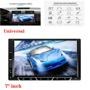 """Car MP5 Player 7"""" Double 2DIN Bluetooth Touch Screen Stereo Radio Mirror link"""