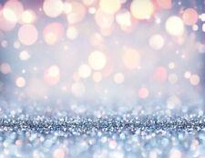 Xmas Glitter Light Spots Abstract Bokeh Backdrop 7x5ft Vinyl Photo Background LB