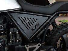 BMW K75 fiancatine in alluminio verniciato nero opaco