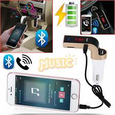 Bluetooth Car Charger Wireless LCD MP3 Player FM Transmitter Radio USB Port Kit
