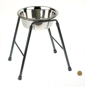 Classic Raised Single Dog Feeder High Stand + Bowl High stand Feeder Larger Dogs