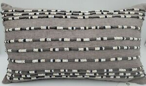 """Hotel Collection Linen 14"""" X 24"""" Decorative Pillow Gray"""
