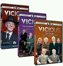 VICIOUS The Complete Series 1-3 SEASONS 1, 2 + Final (DVD) Free Shipping! NEW!