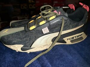 Puma H St 20 FIRST MILE BLACK AND KHAKI SIZE MENS 14  NWB VERY RARE tigar print