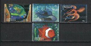 Dominica 2001 Sc#2272-75  Marine Life-Fish/Ray/Octopus  MNH Set $5.00
