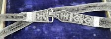 Rare! vintage antique ethnic tribal old silver Belt Belly chain south india