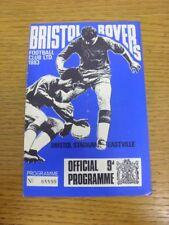 12/04/1968 Bristol Rovers v Torquay United  (Light Fold, Team Changes). Bobfrank