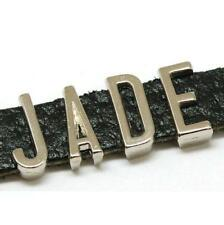 The Olivia Collection 'jade' Leather Personalised Name Bracelet