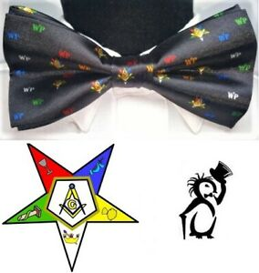 Worthy Patron bow tie, New Mens! WP bow tie , OES Worthy Patron bow tie necktie
