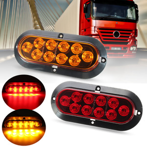 12V 10 LED Truck Trailer Indicator Turn Signal Stop Light Side Marker Amber  !
