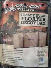 Rig'Em Right Waterfowl 12 Slot Floater Floating Duck Decoy Bag Khaki Tan