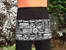 Black Religious Server waitress waist apron 3 pocket restaurant Classyaprons