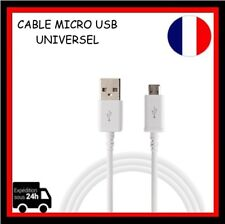 1m  Cable Micro USB Data Sync  Chargeur pour Smartphone Tablette Blanc