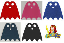 Custom LEGO Minifig's Cape Scalloped 5 Points Batman Style Choice of 5 Colors