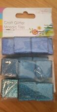 24 Pieces Of Craft Glitter Mosaic Tiles 3 Shades Of blue.Brand new in pack