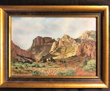 SMALL OIL ON BOARD SIGNED JO KLEIN SAN ANTONIO TEXAS FRAMED 6 BY 8 INCHES