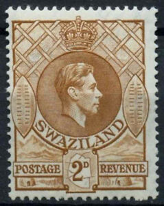 Swaziland 1938-54 SG#31a, 2d Yellow-Brown KGVI P13.5x14 MH #D16120
